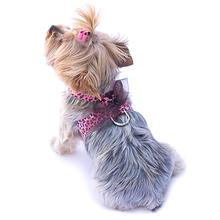 The Dog Squad Parisian Corset Dog Harness - Pink Leopard