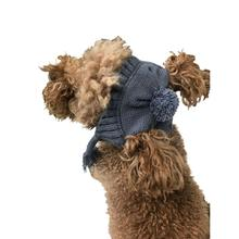 The Dog Squad's Scottish Cable Knit Dog Hat - Charcoal Gray