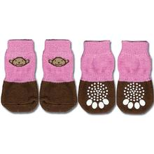 Doggy Socks - Pink & Brown Monkey