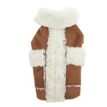 Doggy Wrappers Soft as Suede Dog Coat - Camel and Ivory