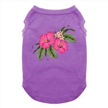 Hawaiian Hibiscus Dog Shirt - Purple