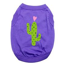 Cactus Dog Shirt - Purple