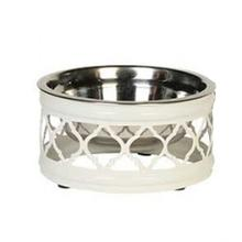 Draper Dog Bowl - White