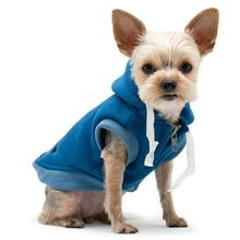 Drawstring Dog Hoodie by Dogo - Blue