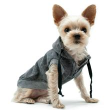 Drawstring Dog Hoodie by Dogo - Gray