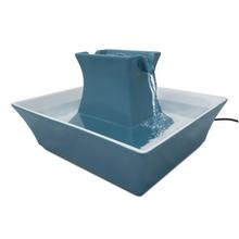 Drinkwell Pagoda Ceramic Pet Water Fountain by PetSafe - Himalayan Blue
