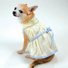 Duckie Hand-Smocked Bishop Dog Dress By Oscar Newman