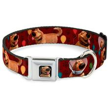 Dug with Balloons Seatbelt Buckle Dog Collar by Buckle-Down