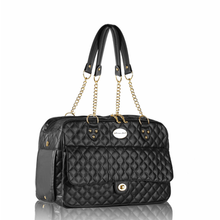 Parisian Pet London Quilted Dog Carrier - Black