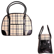 Milan Plaid Luxury Dog Carrier by Parisian Pet