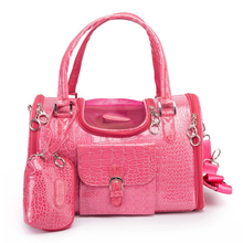 Parisian Pet Luxury Croc Dog Carrier - Pink