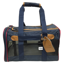Navy and Tan Dog Duffle Bag Carrier - Parisian Pet