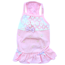 Lace, Bows & Pearls Dog Tank Dress - Pink