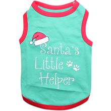 Santa's Little Helper Dog Tank by Parisian Pet