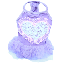Tutu Heart Dog Dress by Parisian Pet - Purple