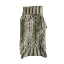 Casual Canine Cable Knit Dog Sweater - Bark to School Gray