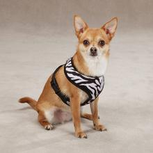 East Side Collection Plush Animal Print Dog Harness - Zebra