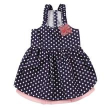 East Side Collection Polka Dot Dog Dress - Blue