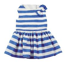 East Side Collection Blue Stripe Dog Dress