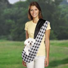 East Side Collection Reversible Sling Dog Carrier - Black Plaid