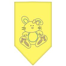 Easter Bunny Rhinestone Dog Bandana - Yellow