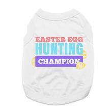 Easter Egg Hunting Champion Dog Shirt - White