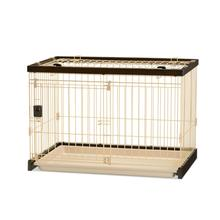 Easy-Clean Dog Crate - Dark Brown/Soft Tan