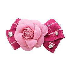 EasyBOW Flower Bow Dog Collar Attachment by Dogo - Pink