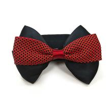 EasyBOW Gentleman Dog and Cat Collar Attachment by Dogo - Red and Black