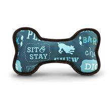 ECO P.L.A.Y. Bone Dog Toy - Sofa Blue