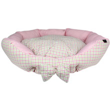 Parisian Pet Pinkberry Plaid Dog Bed