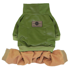 Bomber with Corduroy Pants Dog Jumpsuit - Green