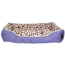 Parisian Pet Safari Lounger Dog Bed - Purple