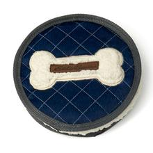 Eddie Bauer Bone Disc Dog Toy - Navy