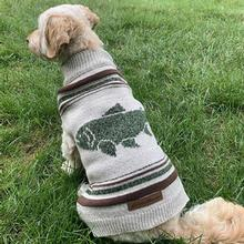 Eddie Bauer Heathered Fish Dog Sweater - Oatmeal