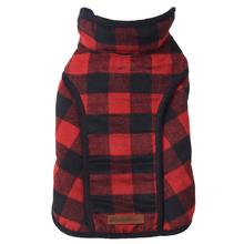 Eddie Bauer Kendall Brushed Check Dog Vest - Red and Black