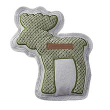 Eddie Bauer Quilted Plush Moose Dog Toy - Green