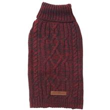 Eddie Bauer Marled Cable Knit Dog Sweater - Brick/Carbon