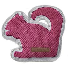 Eddie Bauer Squirrel Dog Toy - Raspberry