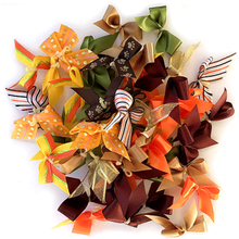 Elegant Autumn Dog Bows