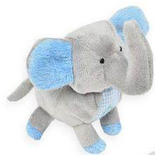 Elephant Safari Baby Dog Toy By Oscar Newman - Blue