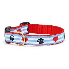 Pawprint Stripe Dog Collar by Up Country