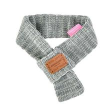 Elicia Muffler Dog Scarf by Pinkaholic - Grey