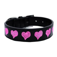 Embroidered Heart Dog Collar by Mirage