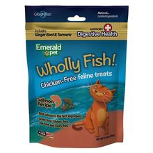 Emerald Pet Wholly Fish! Digestive Health Cat Treats - Salmon Recipe