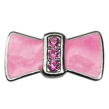 Enamel Bow Slider Dog and Cat Collar Charm - Pink