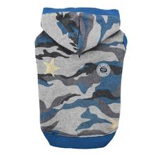 Ensign Camo Dog Hoodie by Puppia - Blue