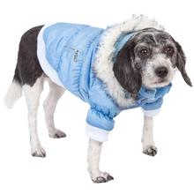 Pet Life Metallic Ski Parka Dog Coat - Blue
