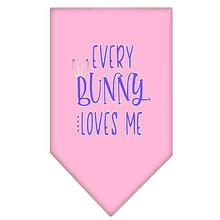 Every Bunny Loves Me Screen Print Dog Bandana - Light Pink