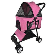 Executive Dog Stroller with Removable Cradle by Dogline - Pink